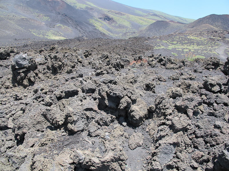 Mount Etna lava