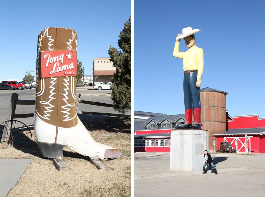 Giants on Route 66: Boot & Cowboy