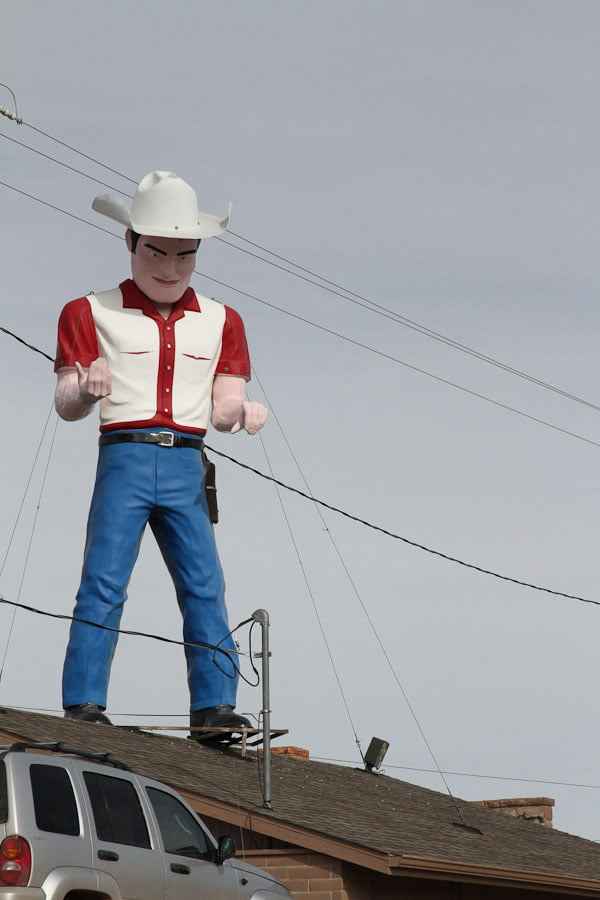Giants along Route 66: Cowboy Muffler Man, New Mexico