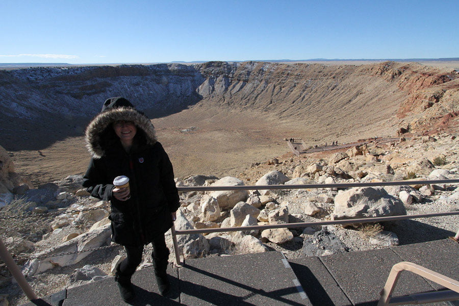Meteor Crater in Arizona, USA