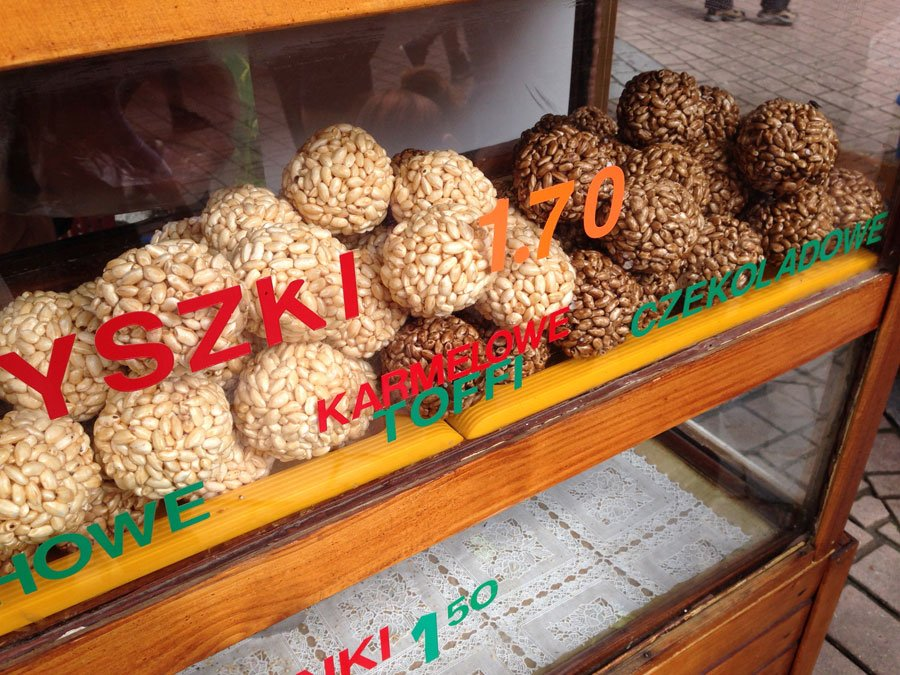 Polish Streetfood @ krupówki street in Zakopane, Poland