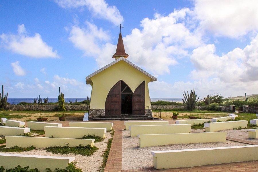 A very nice and very small church on the Island of Aruba.