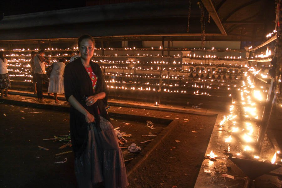 Candles at the temple