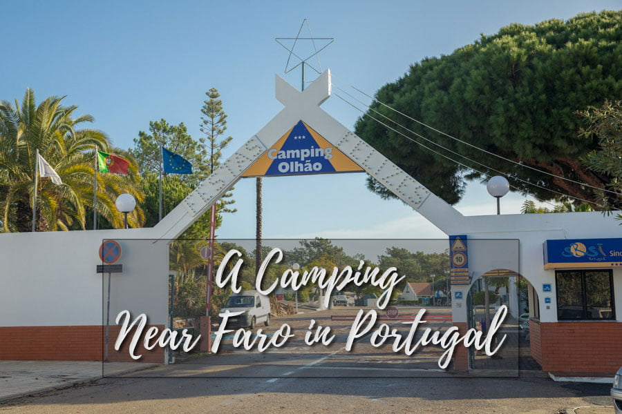 A camping near Faro in Portugal